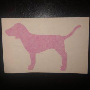 Victoria Secret Pink Dog Sticker